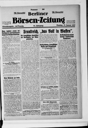 Berliner Börsen-Zeitung vom 17.01.1927