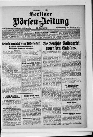 Berliner Börsen-Zeitung vom 20.01.1927