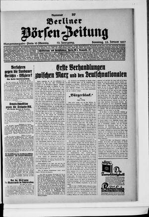 Berliner Börsen-Zeitung on Jan 23, 1927
