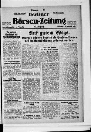 Berliner Börsen-Zeitung vom 24.01.1927