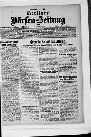 Berliner Börsen-Zeitung vom 26.01.1927