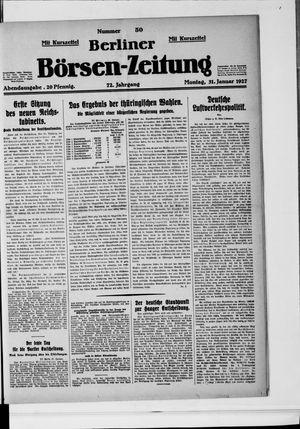 Berliner Börsen-Zeitung vom 31.01.1927