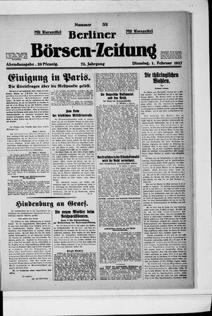 Berliner Börsen-Zeitung vom 01.02.1927
