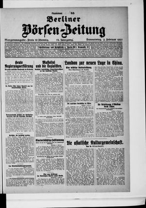 Berliner Börsen-Zeitung vom 03.02.1927