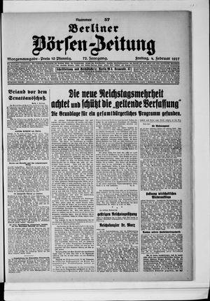 Berliner Börsen-Zeitung on Feb 4, 1927
