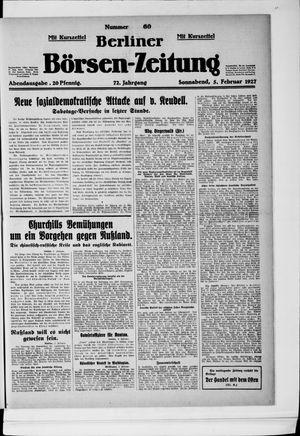 Berliner Börsen-Zeitung vom 05.02.1927