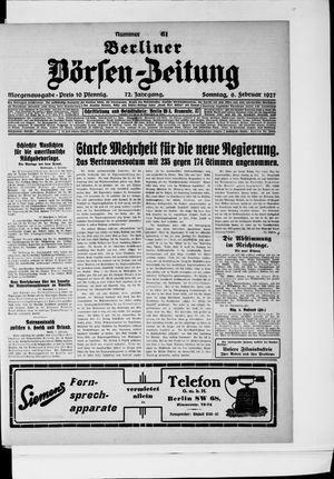 Berliner Börsen-Zeitung vom 06.02.1927
