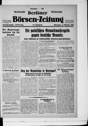 Berliner Börsen-Zeitung vom 08.02.1927