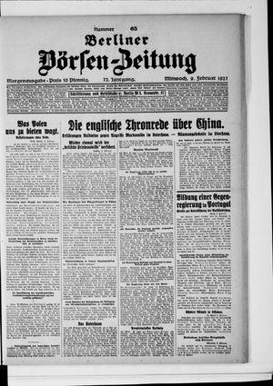 Berliner Börsen-Zeitung vom 09.02.1927