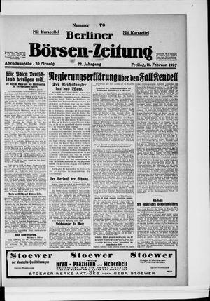 Berliner Börsen-Zeitung vom 11.02.1927