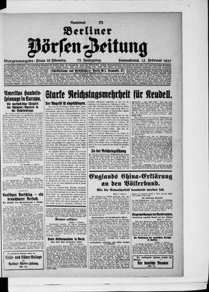 Berliner Börsen-Zeitung vom 12.02.1927