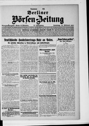Berliner Börsen-Zeitung vom 13.02.1927