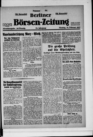 Berliner Börsen-Zeitung vom 14.02.1927