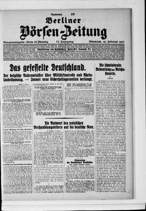 Berliner Börsen-Zeitung vom 16.02.1927