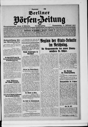 Berliner Börsen-Zeitung vom 17.02.1927