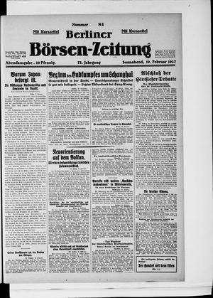 Berliner Börsen-Zeitung vom 19.02.1927