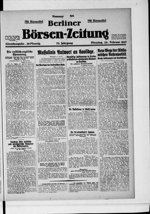 Berliner Börsen-Zeitung vom 22.02.1927