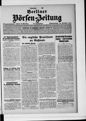 Berliner Börsen-Zeitung vom 24.02.1927
