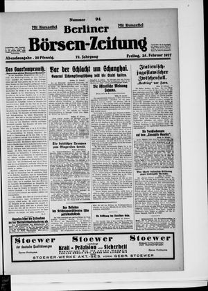 Berliner Börsen-Zeitung vom 25.02.1927