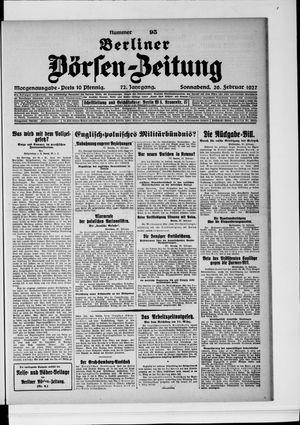 Berliner Börsen-Zeitung vom 26.02.1927