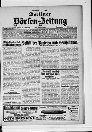 Berliner Börsen-Zeitung vom 27.02.1927