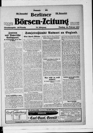 Berliner Börsen-Zeitung vom 28.02.1927