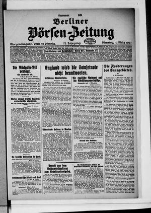 Berliner Börsen-Zeitung vom 01.03.1927