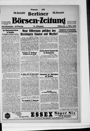 Berliner Börsen-Zeitung vom 02.03.1927