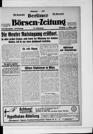 Berliner Börsen-Zeitung vom 07.03.1927