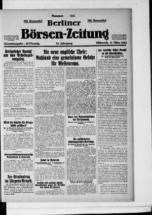 Berliner Börsen-Zeitung vom 09.03.1927