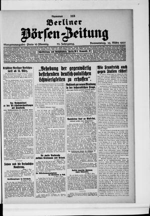 Berliner Börsen-Zeitung vom 10.03.1927