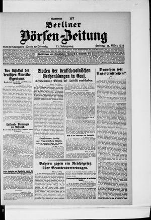 Berliner Börsen-Zeitung vom 11.03.1927