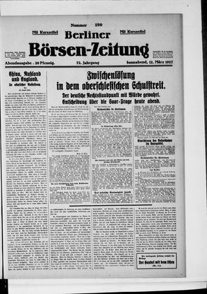 Berliner Börsen-Zeitung vom 12.03.1927