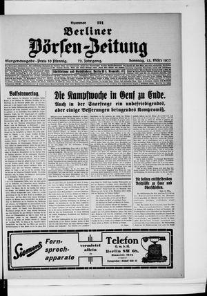 Berliner Börsen-Zeitung vom 13.03.1927