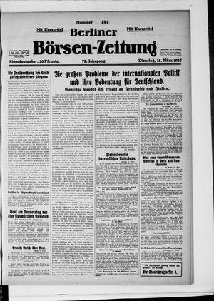 Berliner Börsen-Zeitung vom 15.03.1927