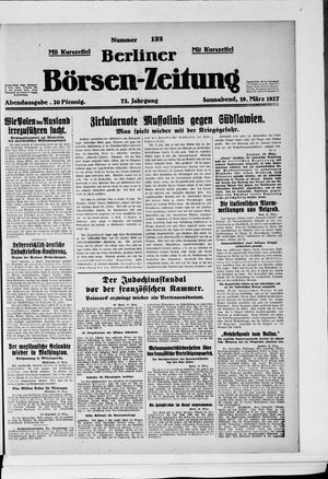 Berliner Börsen-Zeitung vom 19.03.1927