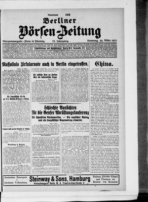 Berliner Börsen-Zeitung vom 20.03.1927