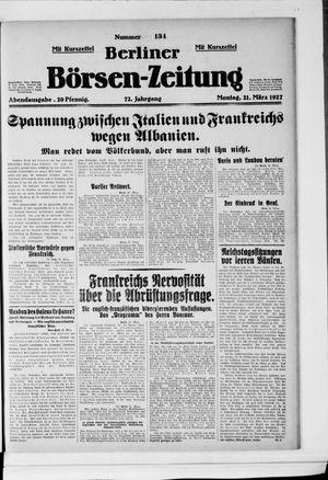 Berliner Börsen-Zeitung vom 21.03.1927