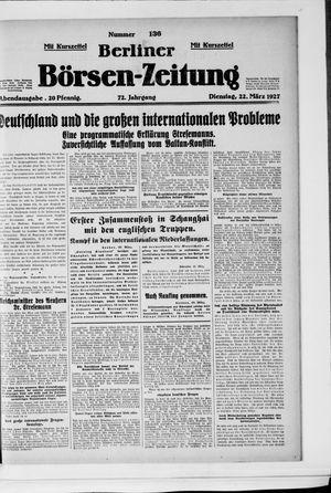 Berliner Börsen-Zeitung vom 22.03.1927
