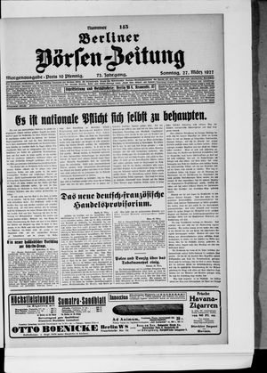 Berliner Börsen-Zeitung vom 27.03.1927