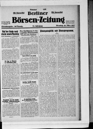 Berliner Börsen-Zeitung vom 29.03.1927
