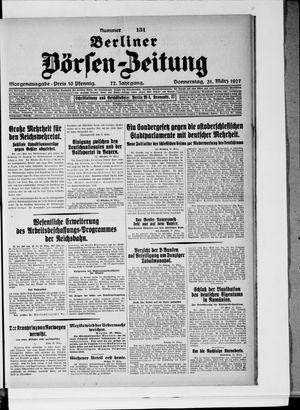 Berliner Börsen-Zeitung vom 31.03.1927