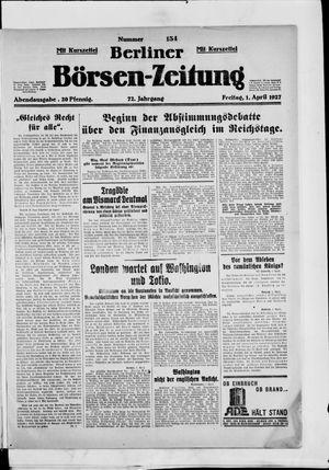 Berliner Börsen-Zeitung vom 01.04.1927