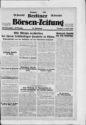 Berliner Börsen-Zeitung vom 04.04.1927