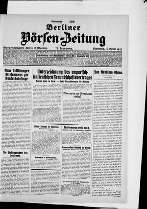 Berliner Börsen-Zeitung vom 05.04.1927