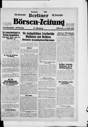 Berliner Börsen-Zeitung vom 06.04.1927