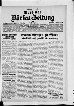 Berliner Börsen-Zeitung vom 08.04.1927