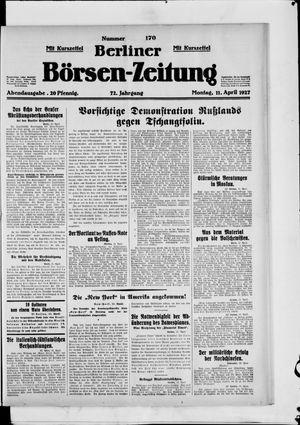 Berliner Börsen-Zeitung vom 11.04.1927