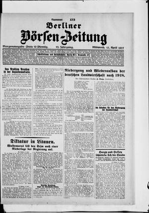 Berliner Börsen-Zeitung vom 13.04.1927