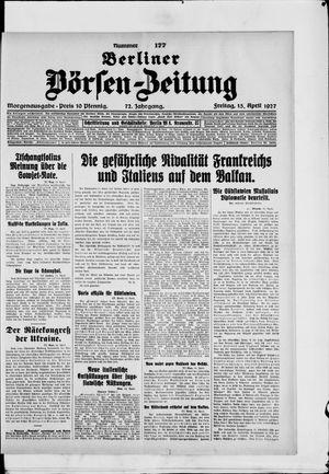 Berliner Börsen-Zeitung on Apr 15, 1927